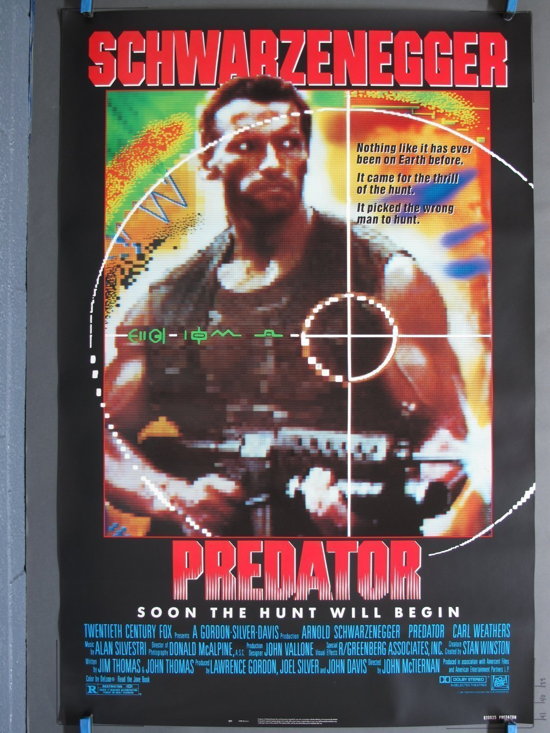 Predator 1987 One Sheet Poster For Sale