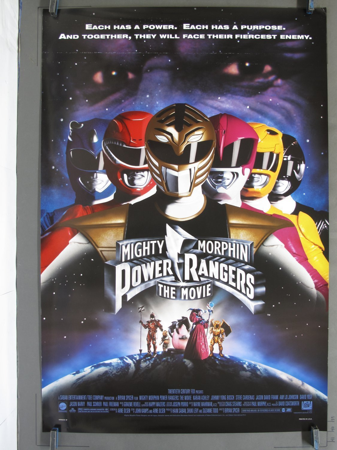 Mighty Morphin Power Rangers The Movie 1995 Ds One Sheet
