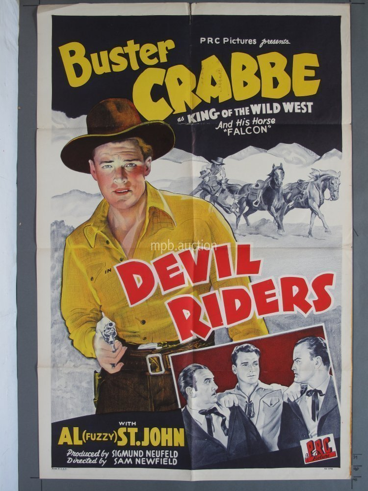 Devil Riders Prc 1943 One Sheet For Sale