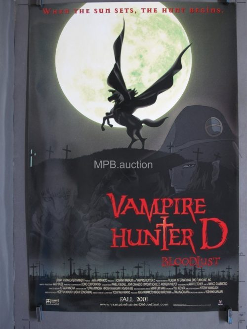 Vampire Hunter D Bloodlust (2001) Original Movie Poster