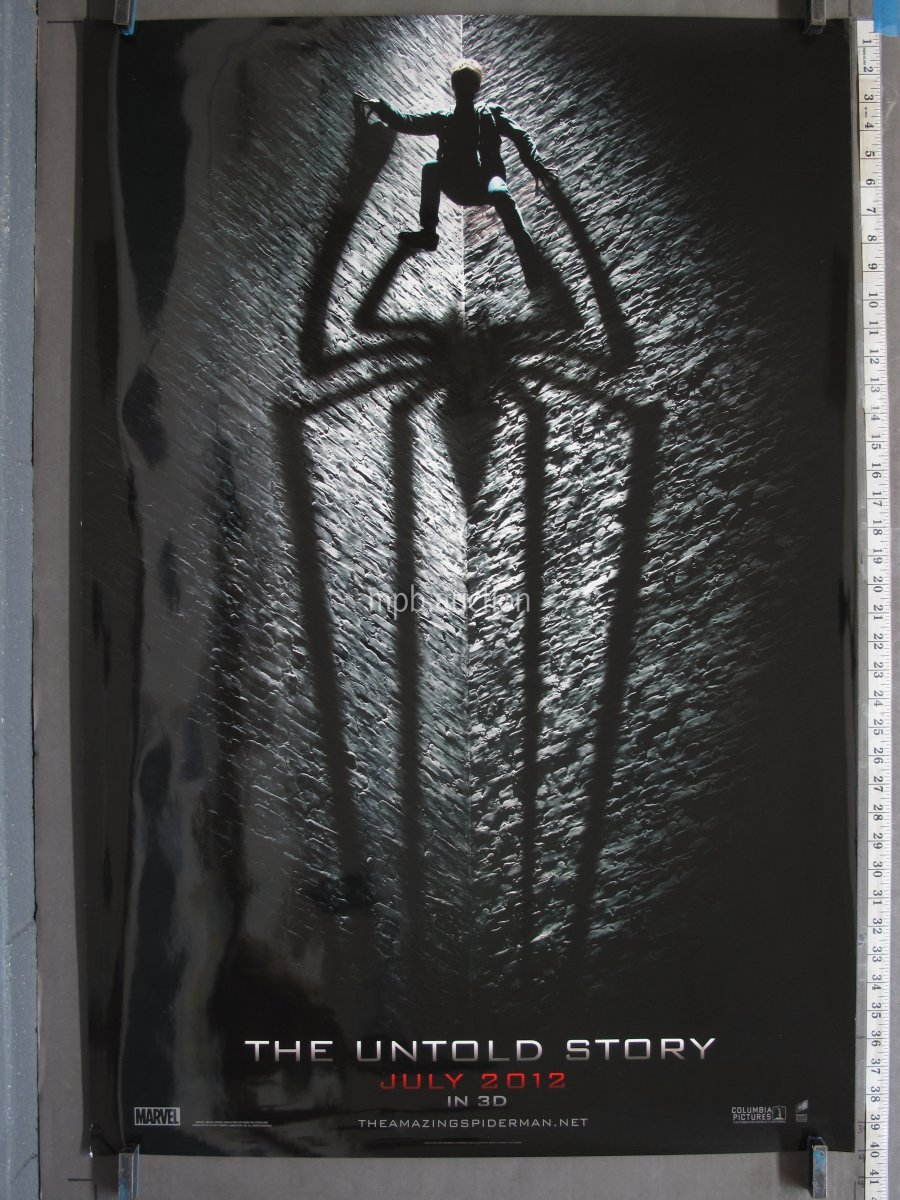 AMAZING SPIDER MAN 2012 DS Spider Teaser Rolled One Sheet For Sale