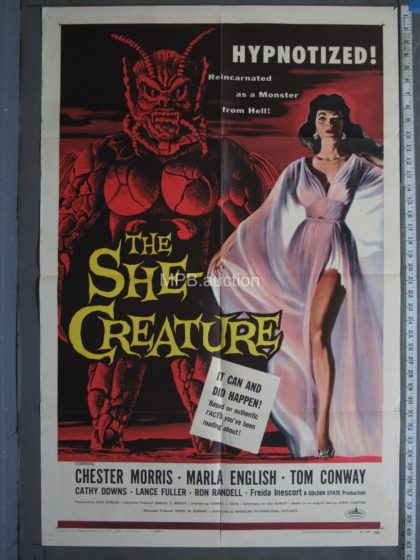 THE SHE CREATURE (1956) One Sheet Movie Poster