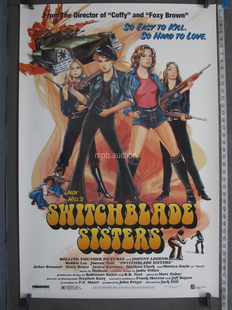 SWITCHBLADE SISTERS (1996R) Original Movie Poster For Sale