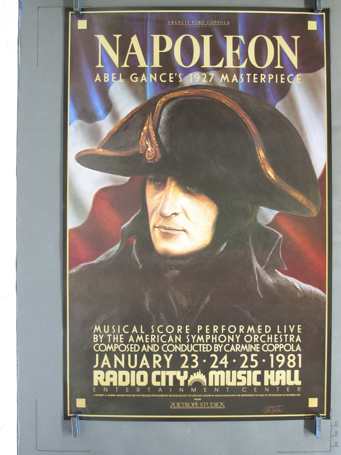NAPOLEON 1981R Radio City Premiere One-Sheet Poster