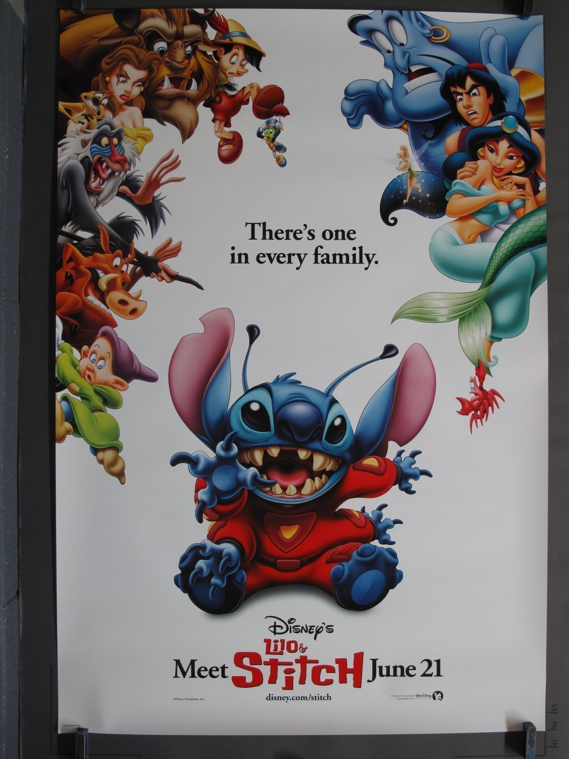 Lilo And Stitch 2002 Teaser One Sheet Poster For Sale