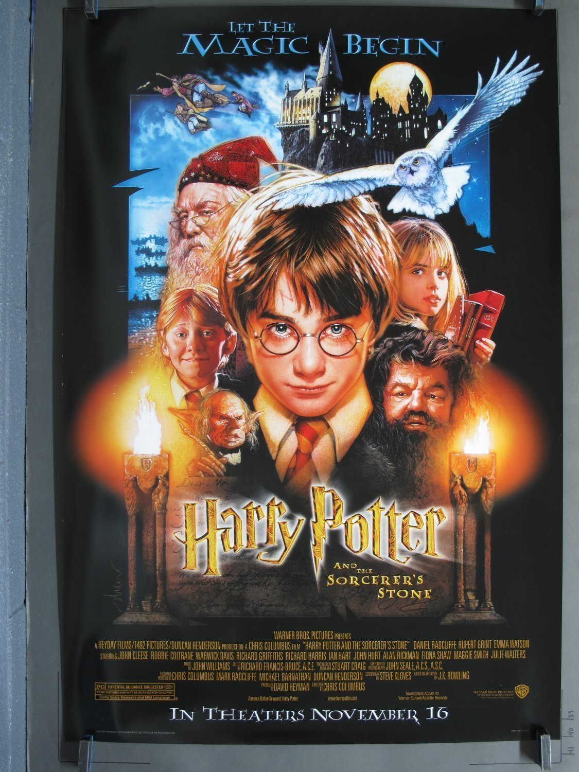 Harry Potter And The Sorcerers Stone 2001 Ds Advance One Sheet Poster