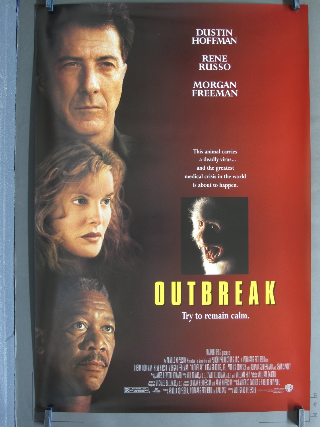 Outbreak 1995 Ds One Sheet Poster For Sale