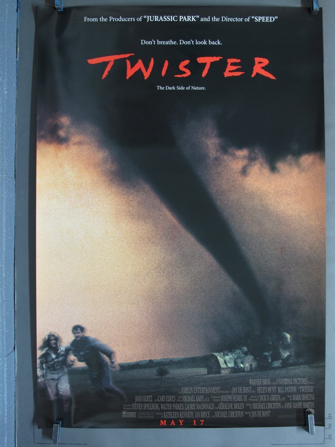 Twister 1996 Ds Advance One Sheet Poster For Sale