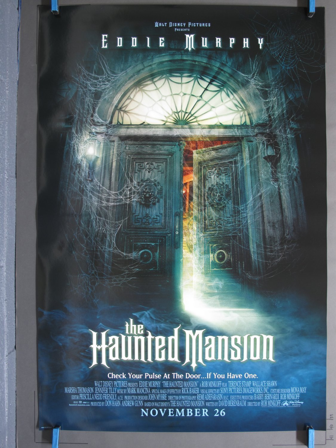 Haunted Mansion 2003 Advance One Sheet Poster For Sale
