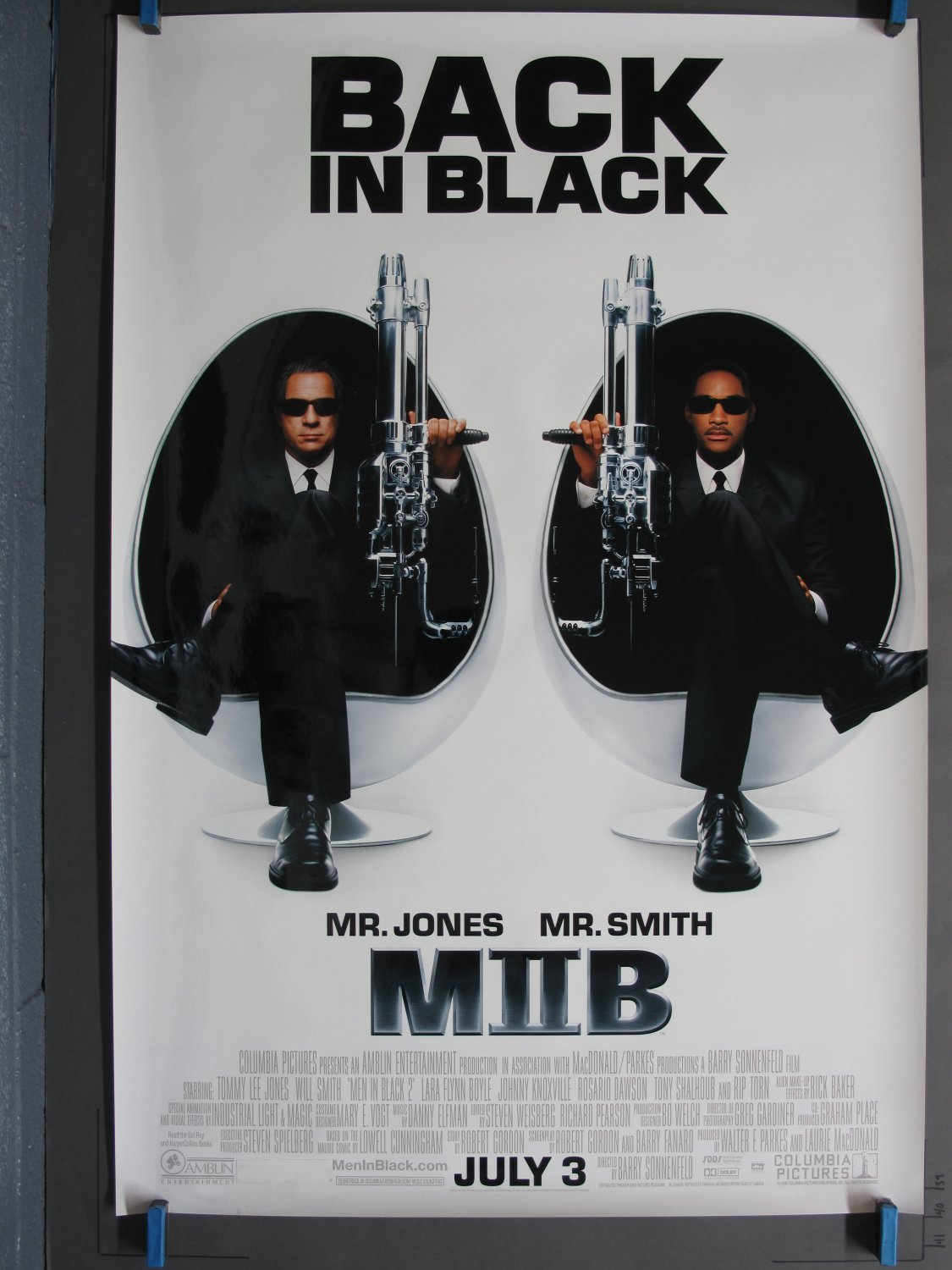 Men In Black Ii 2002 Ds Advance One Sheet Poster For Sale