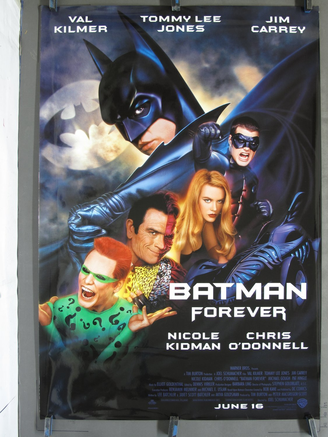 Batman Forever 1995 Ds Advance One Sheet Poster For Sale