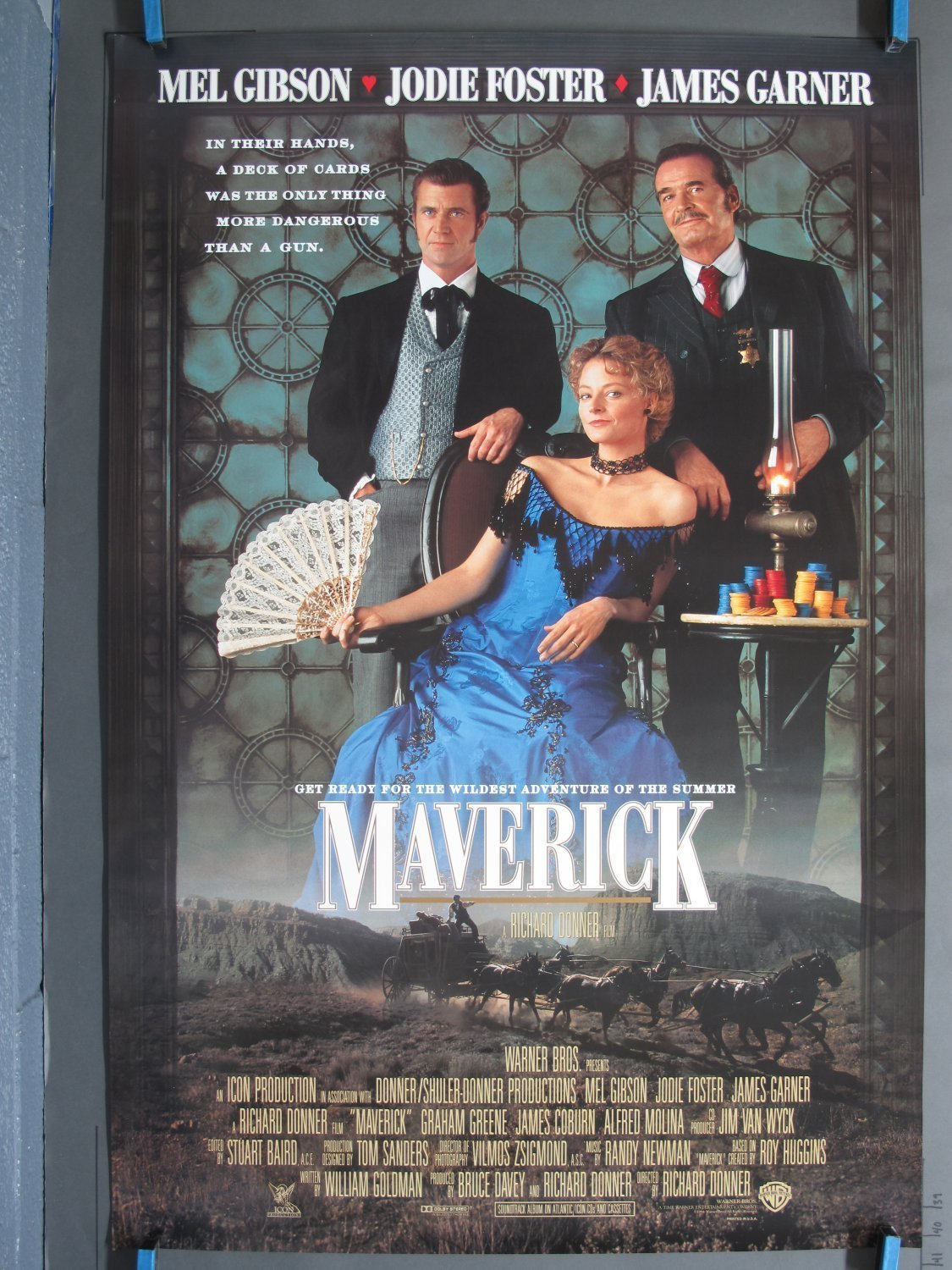 Maverick 1994 Ds International One Sheet Poster For Sale