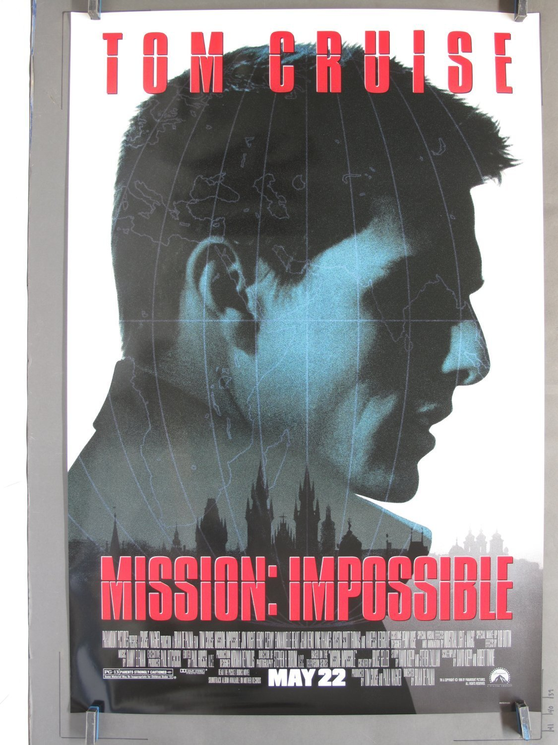 Mission Impossible 1996 Ds Advance One Sheet Poster For Sale