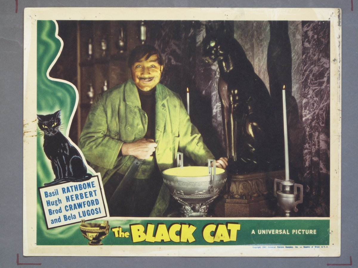 Black Cat Universal 1941 Lobby Card For Sale