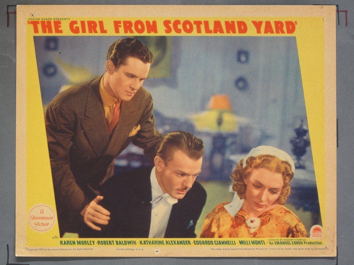 Girl From Scotland Yard Paramount 1937 8 Lobby Cards