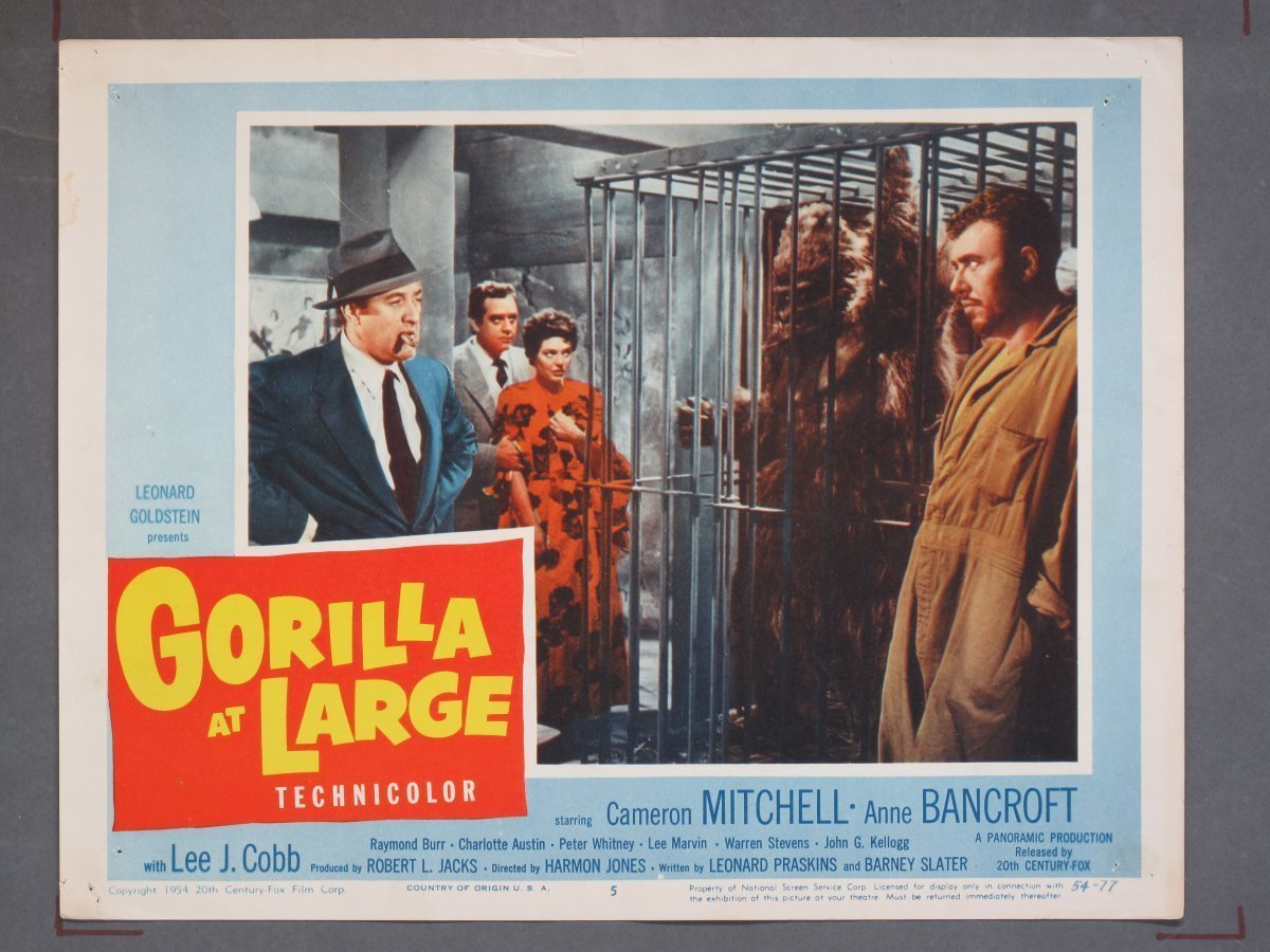 Gorilla At Large Fox 1954 Title Card 7 Lobby Cards