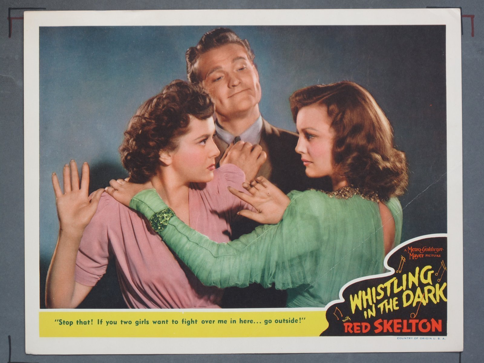 Whistling In The Dark Mgm 1941 Title Card 6 Lobby