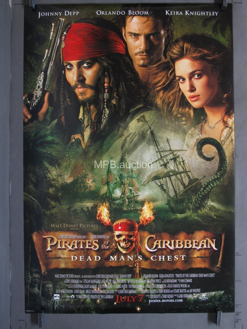 Pirates Of The Caribbean Dead Man S Chest 2006 Ds Advance One Sheet For Sale