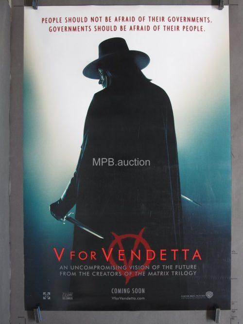 V For Vendetta (2005) Original Movie Poster DS Teaser