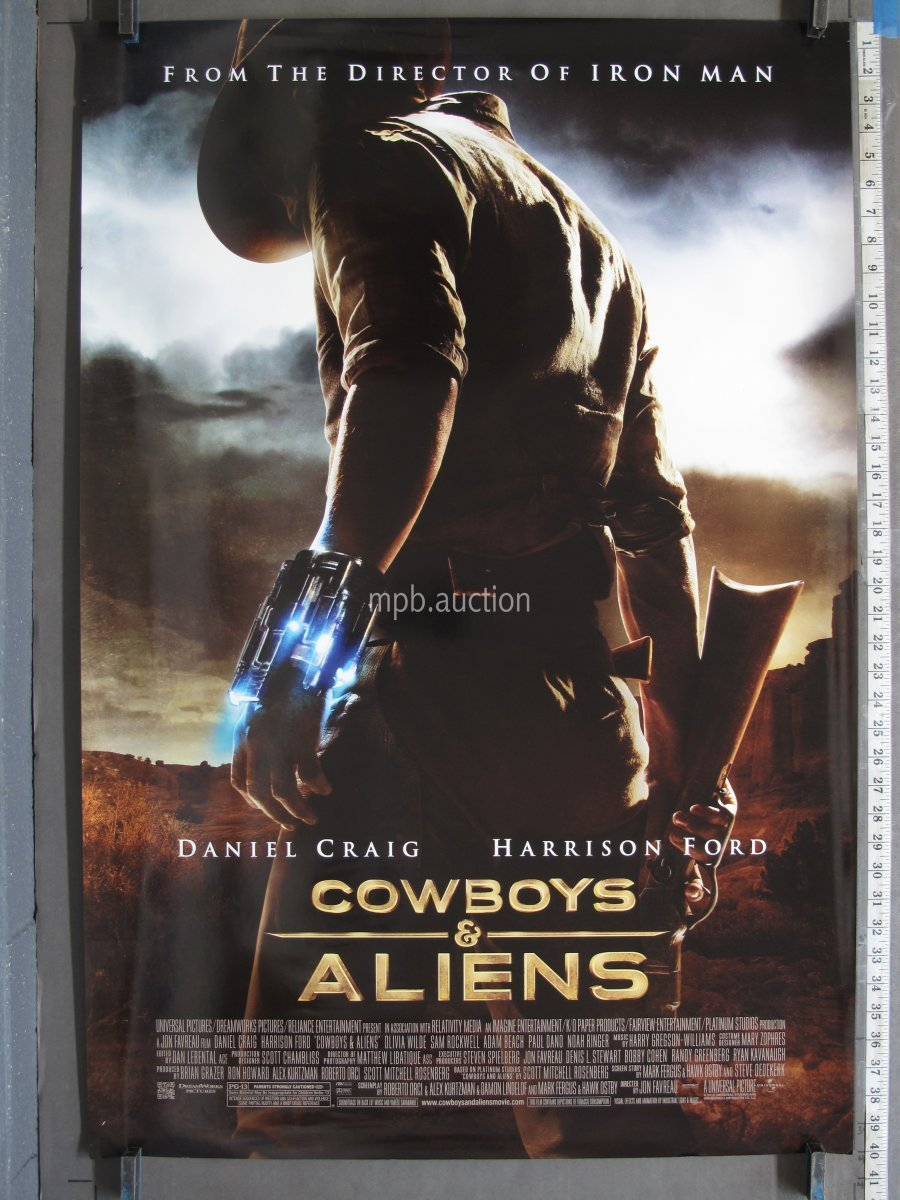 Cowboys And Aliens 2011 Ds Rolled One Sheet For Sale