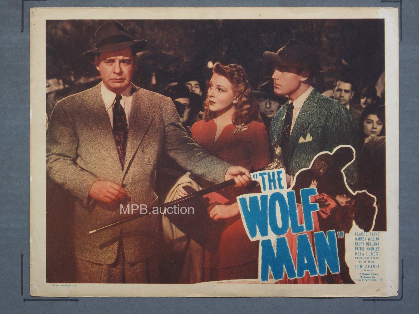 Wolf Man 1949r Lobby Card For Sale