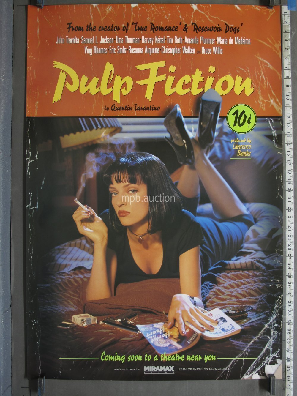 Pulp Fiction 1994 Lucky Strikes Original Movie Poster For Sale
