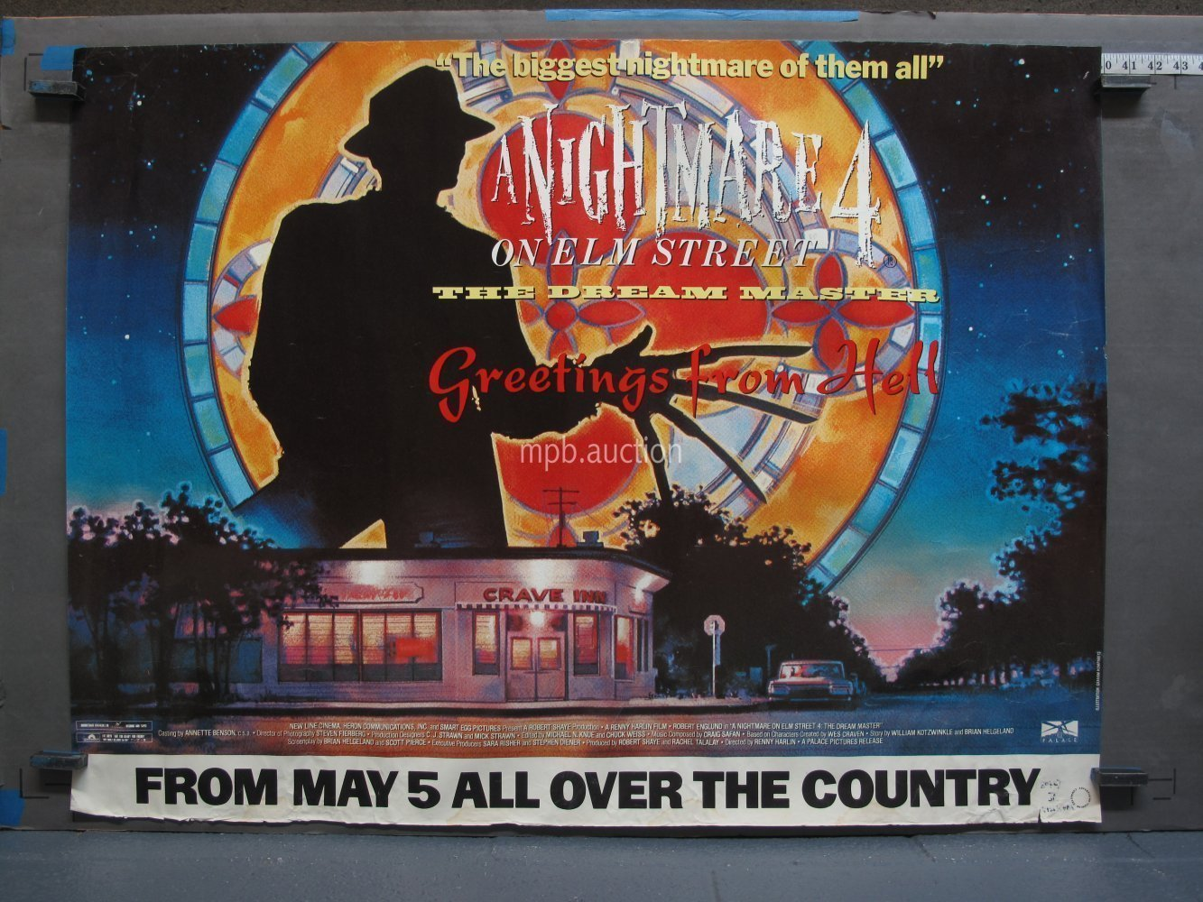 A Nightmare On Elm Street 4 1989 British Quad Movie