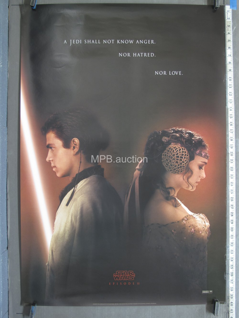 24 x 36 inches 2002 Vintage Star Wars Attack of the Clones Poster Episode 2