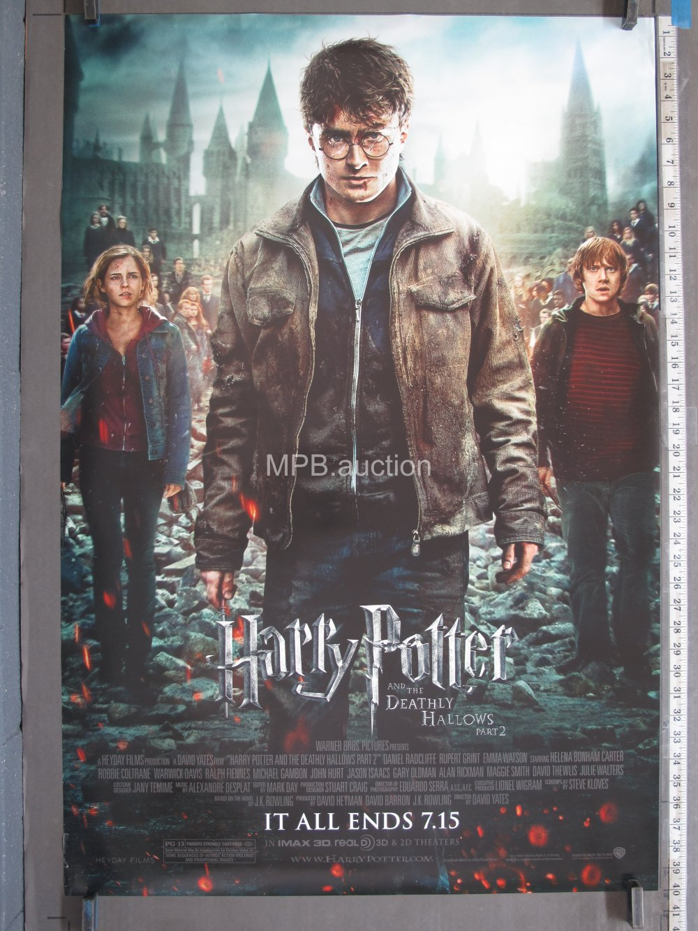 Harry Potter And The Deathly Hallows Part 2 2011 Original Ds Advance Movie Poster For Sale