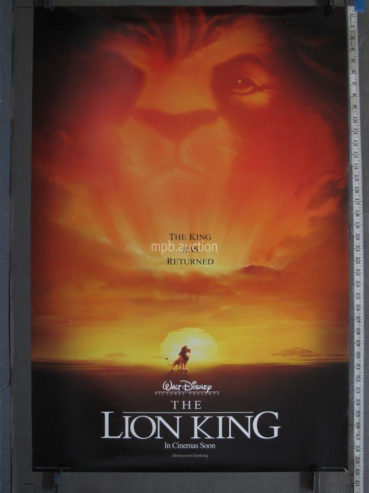 Lion King 1994 Original Ds International Teaser Movie Poster For Sale