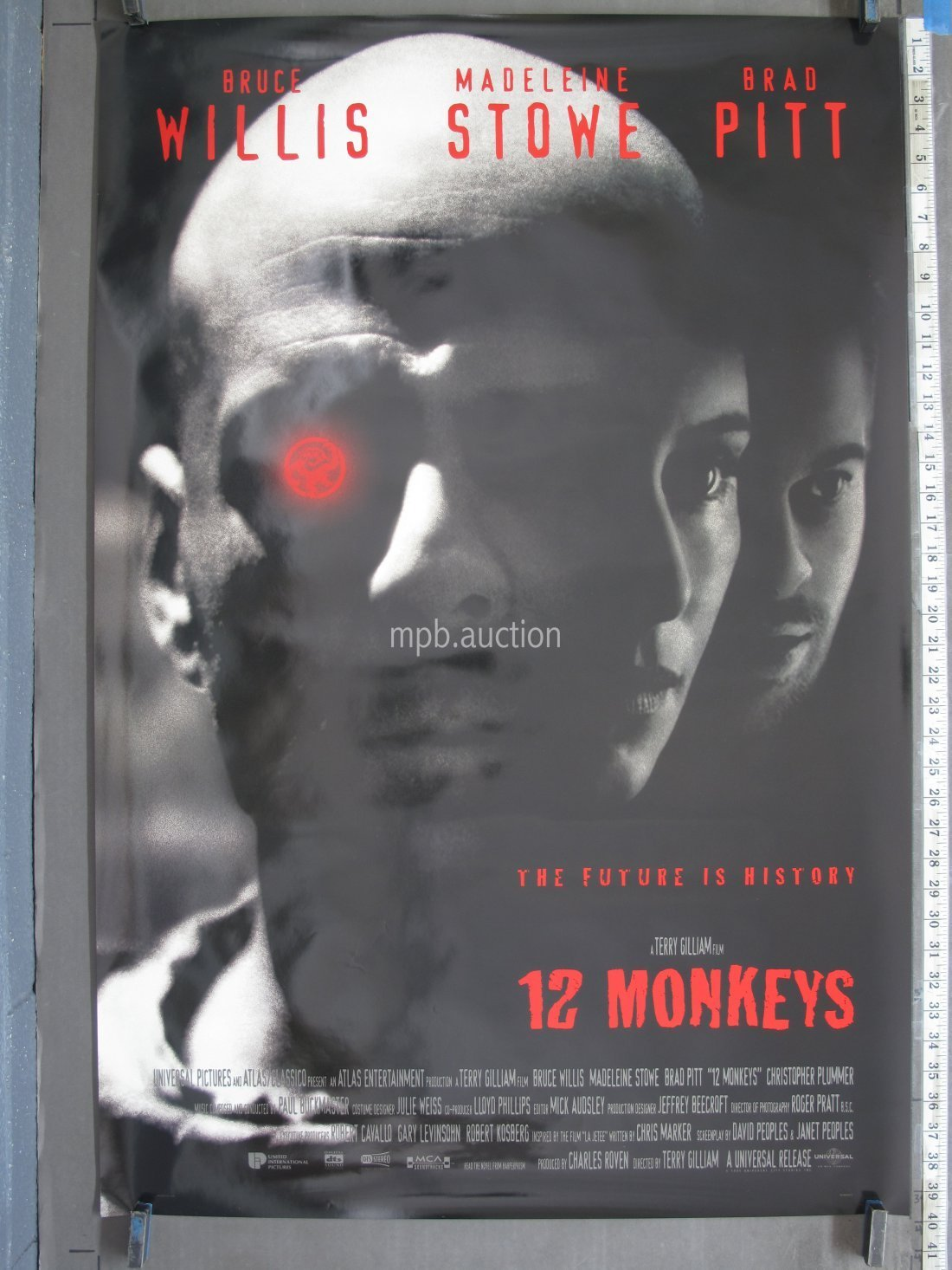 12 MONKEYS (1995) Original DS International Movie Poster
