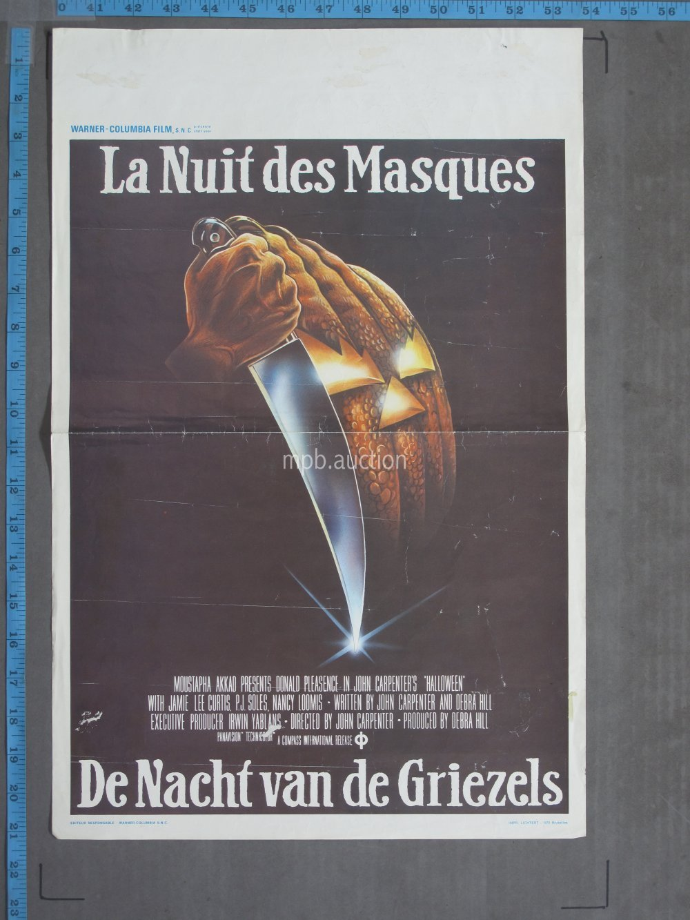 Halloween 1978 Movie Poster.Halloween 1978 Original Belgian Movie Poster