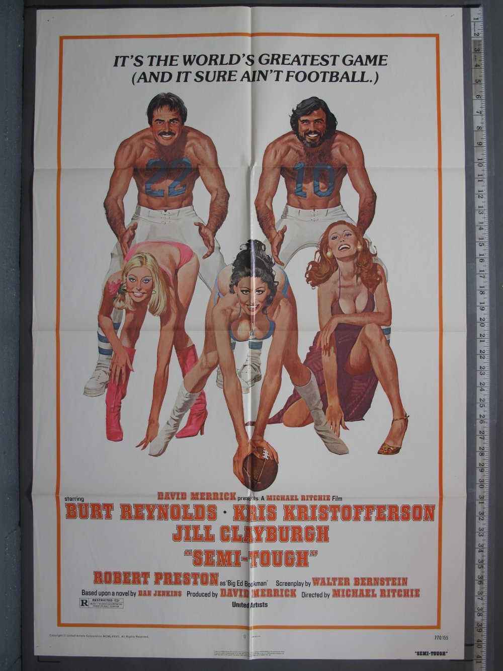 SEMI-TOUGH (1977) Original Movie Poster For Sale