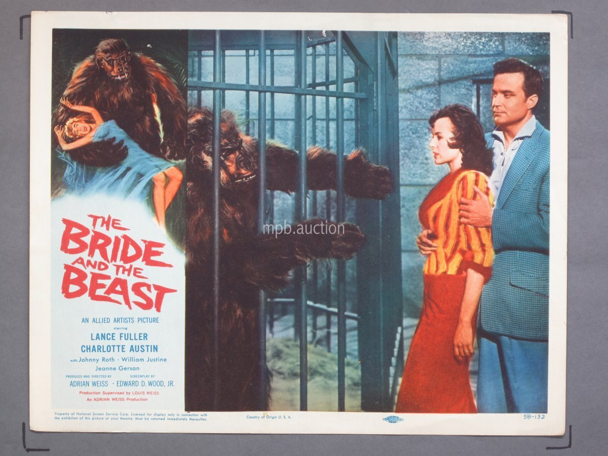 BRIDE AND THE BEAST (1958) 11x14 inch Lobby Card Movie Poster #1