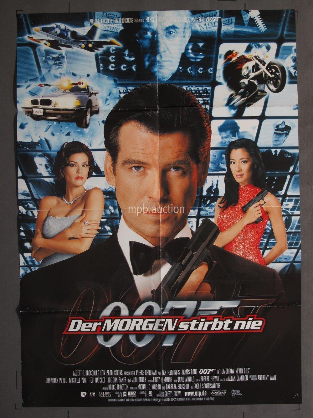 Tomorrow Never Dies 1997 Original German Movie Poster For Sale